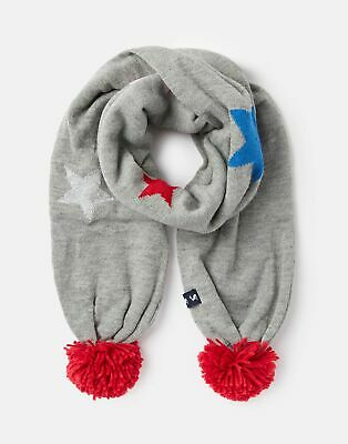 Joules Girls Halley Star Intarsia Scarf - GREY STAR in One Size