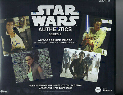 Star Wars Authentics Autographs Series 2 Hobby Topps 2019 Brand New Sealed Case