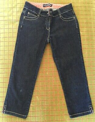 Girls Mini Boden 3/4 Length Cropped Jeans Age 11 years