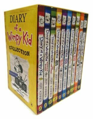 Diary of a Wimpy Kid Box Set Collection (10 Books) (Diary of a Wimpy Kid) by Kin