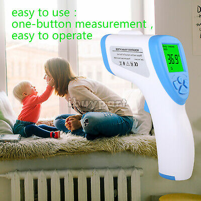 US IR Infrared Digital Forehead Fever Thermometer Non-Contact Body Baby / Adult
