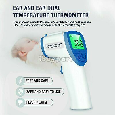 IR Infrared Digital Forehead Fever Thermometer Non Contact Baby / Adult Body US