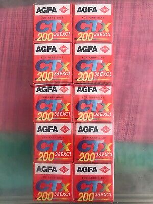 Agfa Agfachrome CT-X ISO 200 35mm Color Slide film 36 Exposures NOS Expired 1997