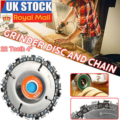 """22 Tooth 4"""" Angle Grinder Disc Saw Blade Chain Saw for Carving Wood Plastic UK"""