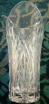 Retro 1960's /1970's Large Glass Vase - 25cm Height 15cm Wide