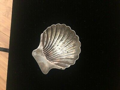 Vintage Sterling Silver Caviar Shell Dish