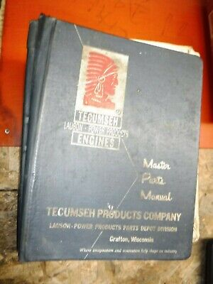 Up To 1969 Tecumseh Lauson Power Products Engines Factory Master Parts Manual