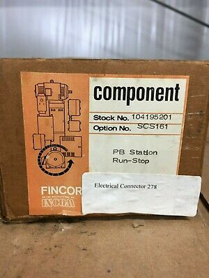 NEW Boston Fincor 104195201 Pushbutton Station Series SCS160
