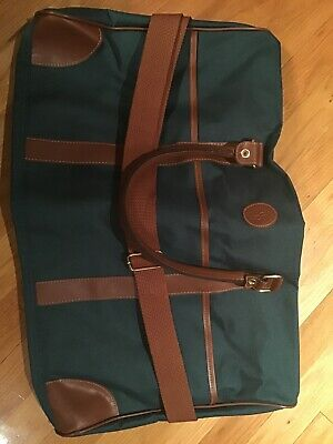 Ralph Lauren Polo Duffel Bag Carry On Travel Bag Gym Bag Green Vintage Rare