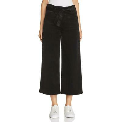 Paige Womens Black Velvet Cropped Night Out Culottes 26 BHFO 3482
