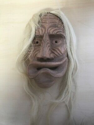 VTG HANDCARVED WOOD DREAM MASK by JACOB THOMAS, 1987