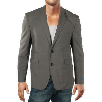 Vince Camuto Mens Gray Wool Slim Fit Two-Button Blazer Jacket 42S BHFO 2548