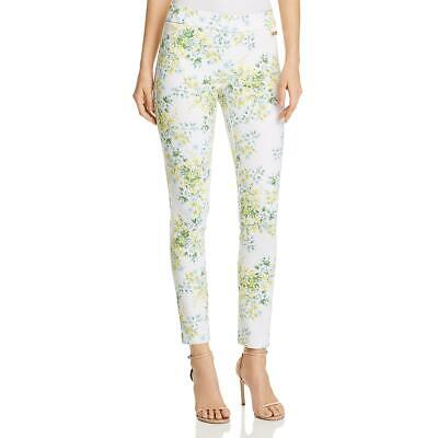 Calvin Klein Womens White Floral Ankle Trousers Skinny Pants S BHFO 4338