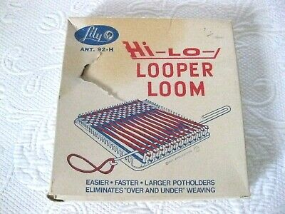 Vintage, Lily, Plastic, Hi Lo Looper Loom, Art. 92-H,  Ages 6 And Up, LN, #m