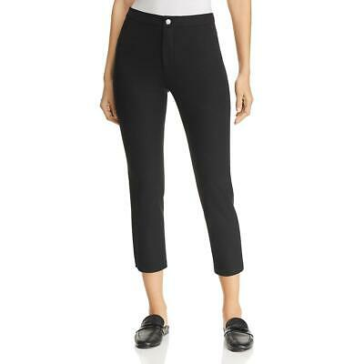 Lysse Womens MIA  Black Ankle Straight Office Pants 8 BHFO 9263