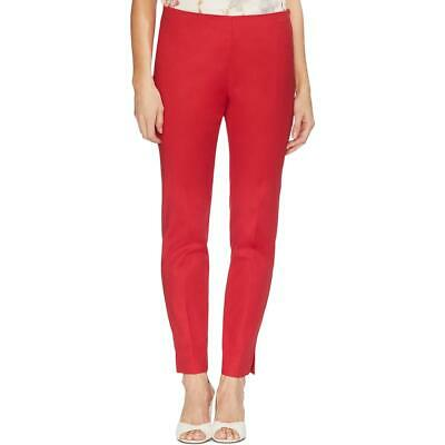 Vince Camuto Womens Red Double Weave Vented Slit Hem Pants 12 BHFO 7410