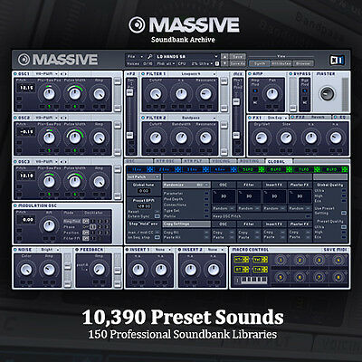 THE BEST NI Massive HUGE Pro-Quality Studio Producer Archive 10,390 Presets