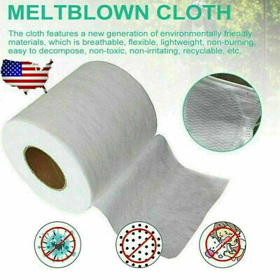 Melt-blown Nonwoven DIY Fabric Mouth Face Craft Filter Cloth 5M 10M 20M US Stock