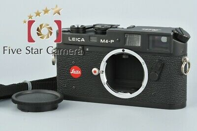 Excellent-!! Leica M4-P Black 35mm Rangefinder Film Camera Body