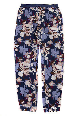 KI6? PRETTY Lightweight Trousers Size 16Y Floral See Through Made in Italy