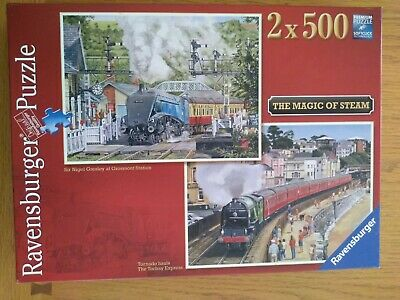 2 x 500 Piece Ravensburger Jigsaw Puzzles - The Magic Of Steam