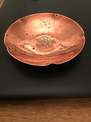 Vintage Keswick Copper Dish Trinket KSIA Arts & Crafts