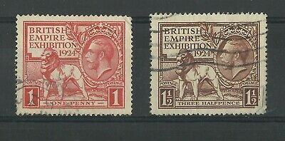Gb Kgv 1924 British Empire Exhibition Used Stamps