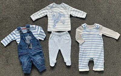 M&S Marks & Spencer George Boys Dungarees Outfits Sets Bundle Age 0-3 Months