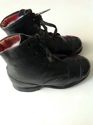Antique Child's/Baby Boots. (Black)
