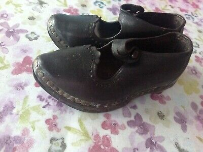 "Antique Baby Clogs (Length 5"")"