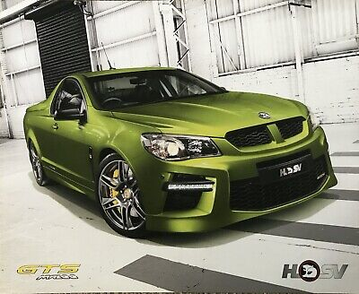 Holden HSV Limited Edition Maloo GTS Sales Brochure
