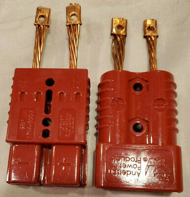 PAIR Anderson SB175 RED Power Ground Quick Disconnect #4 AWG CONTACT 175A