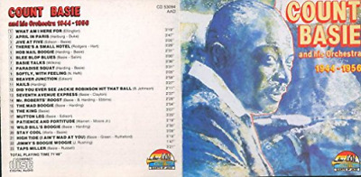 Count Basie And His Orchestra 1944-1956 CD NEW