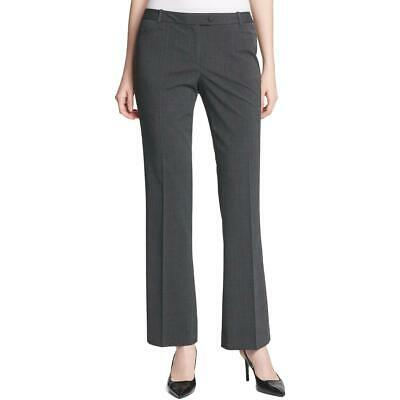 Calvin Klein Womens Gray Plaid Straight Leg Pants Trousers Petites 14P BHFO 9455