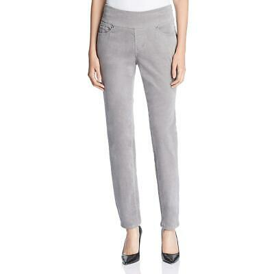 Jag Jeans Womens Nora Gray Skinny High Rise Pull On Corduroy Pants 0 BHFO 7087