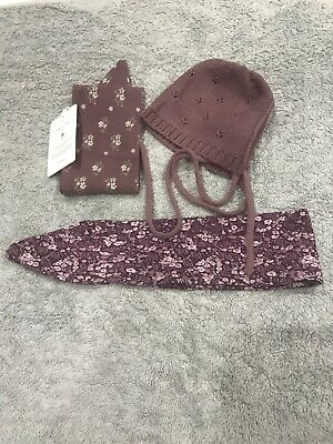 Jamie Kay Bonnet Size 0-3 And Two Headbands