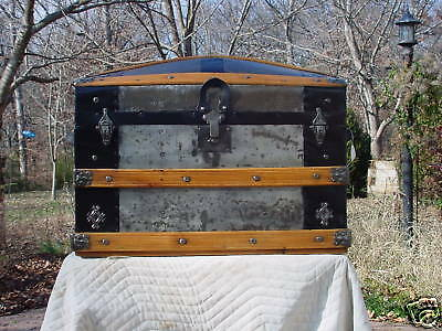 Antique Trunk Pat'd 1873 As Much As 147 Years Old Wonderful Restoration