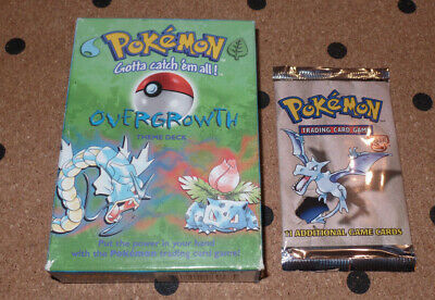 Pokemon Overgrowth Base Set Theme Deck With Fossil Booster Pack.