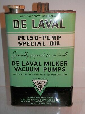 Vintage Tin - De Laval Pulso-Pump Special Oil 1 Gallon