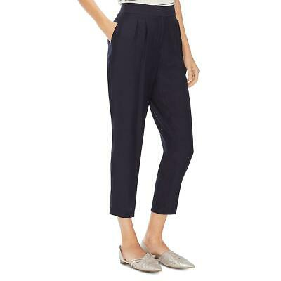 Vince Camuto Womens Navy High Waist Cropped Casual Pants Trousers 6 BHFO 7315