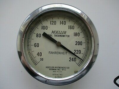 MOELLER DIAL THERMOMETER Fahrenheit - Moeller Instrument Co. Richmond Hill