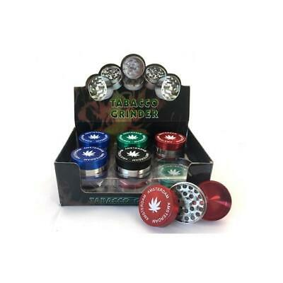3-Parts Leaf Metal Amsterdam 40mm Grinder - HX003A! Great Value and Quality!
