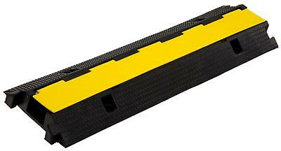 Rubber 1-Channel Cable Protectors Car Ramp Bump 1M Outdoor Heavy Duty Max. 7.5T
