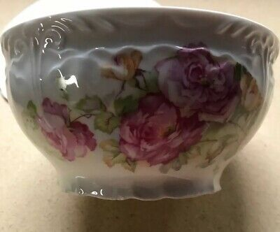 antique Porridge bowl Pretty Roses Lovely Deep Shape