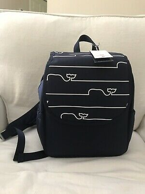 Vineyard Vines Target Navy Blue Whale Outline Diaper Bag NWT