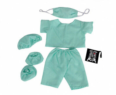 "Doctor scrubs Teddy Bear clothes outfit to fit 16"" build a bear bears and animal"