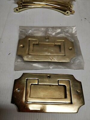 Cabinet Handles Drawer Pull solid brass recessed