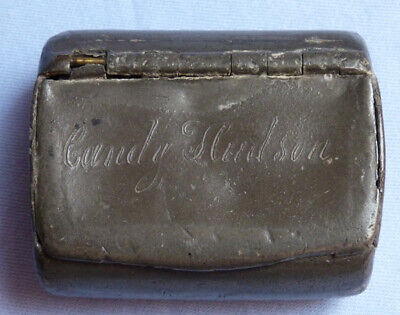 Unique Late-18th/Early 19th Century Pewter Pill Box