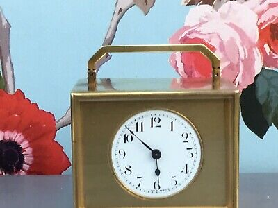 Superb Small French Brass Mantle Clock ( Similar Carriage Clock Movement ) 1920