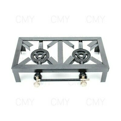 9Kw Double Cast Iron Gas Boiling Ring Burner Catering Stove Camping Propane